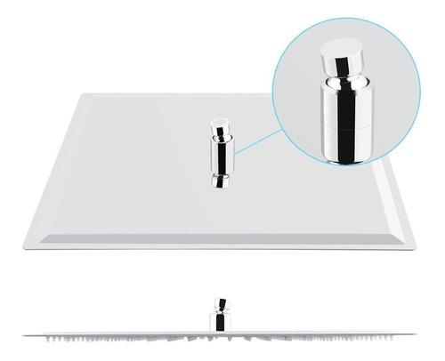 ducha cuadrada acero inoxidable 25x25 cm barral 42 cm