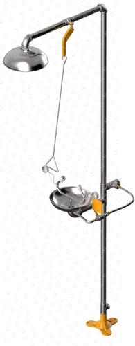 ducha de emergencia con fuente lavaojos inoxidable seguridad