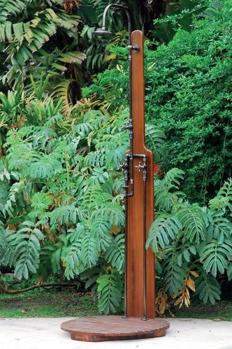 ducha de jardin robinet vintage 2 aguas florentino con deck