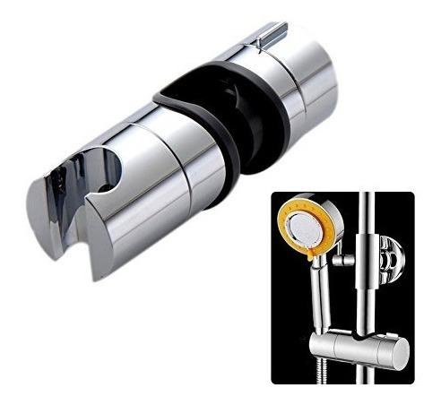 Soporte de ducha de mano Soporte de cabezal de ducha ajustable 360 /° para di/ámetro 24MM Cabezal de barra de deslizamiento ABS Cabeza de cromo Cromo plateado