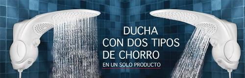 ducha doble funcion lorenzetti duo shower redonda 110voltios
