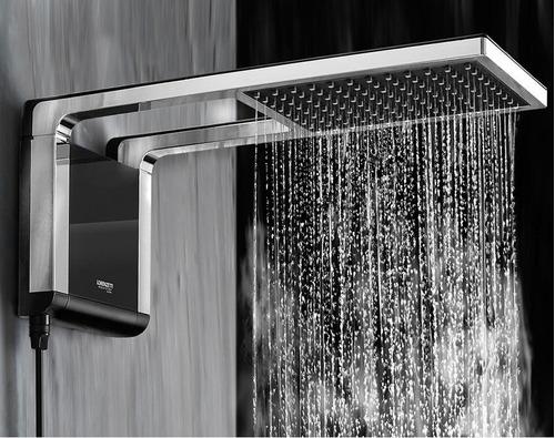 ducha eléctrica de lujo negro cromado lorenzetti