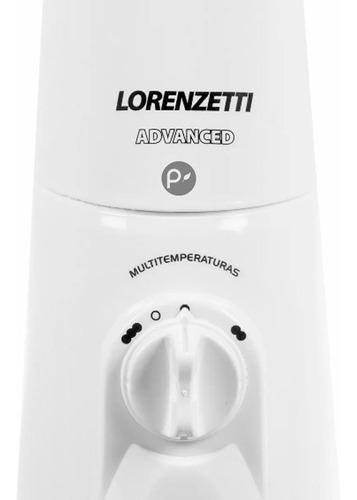 ducha eléctrica lorenzetti advance blanca lujo 220v