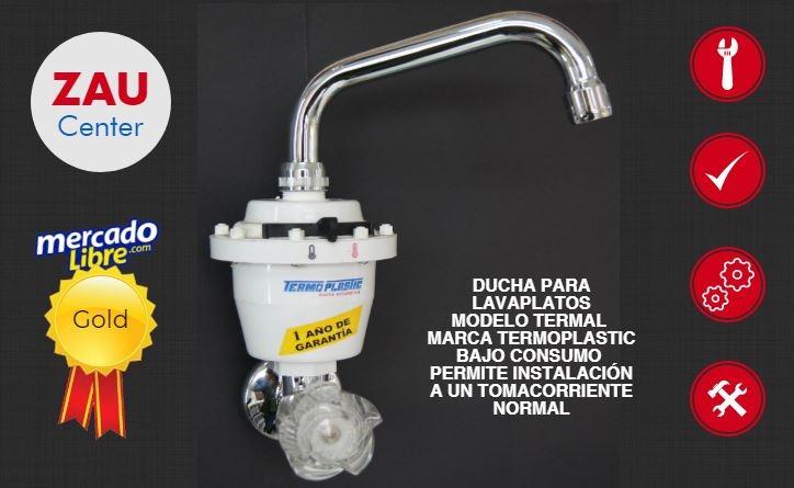 Ducha el ctrica para lavaplatos calentador termal 110v for Ducha electrica precio