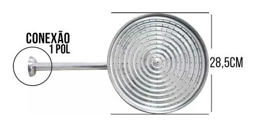 ducha fria 12 pol chuveiro redonda piscina externo aluminio