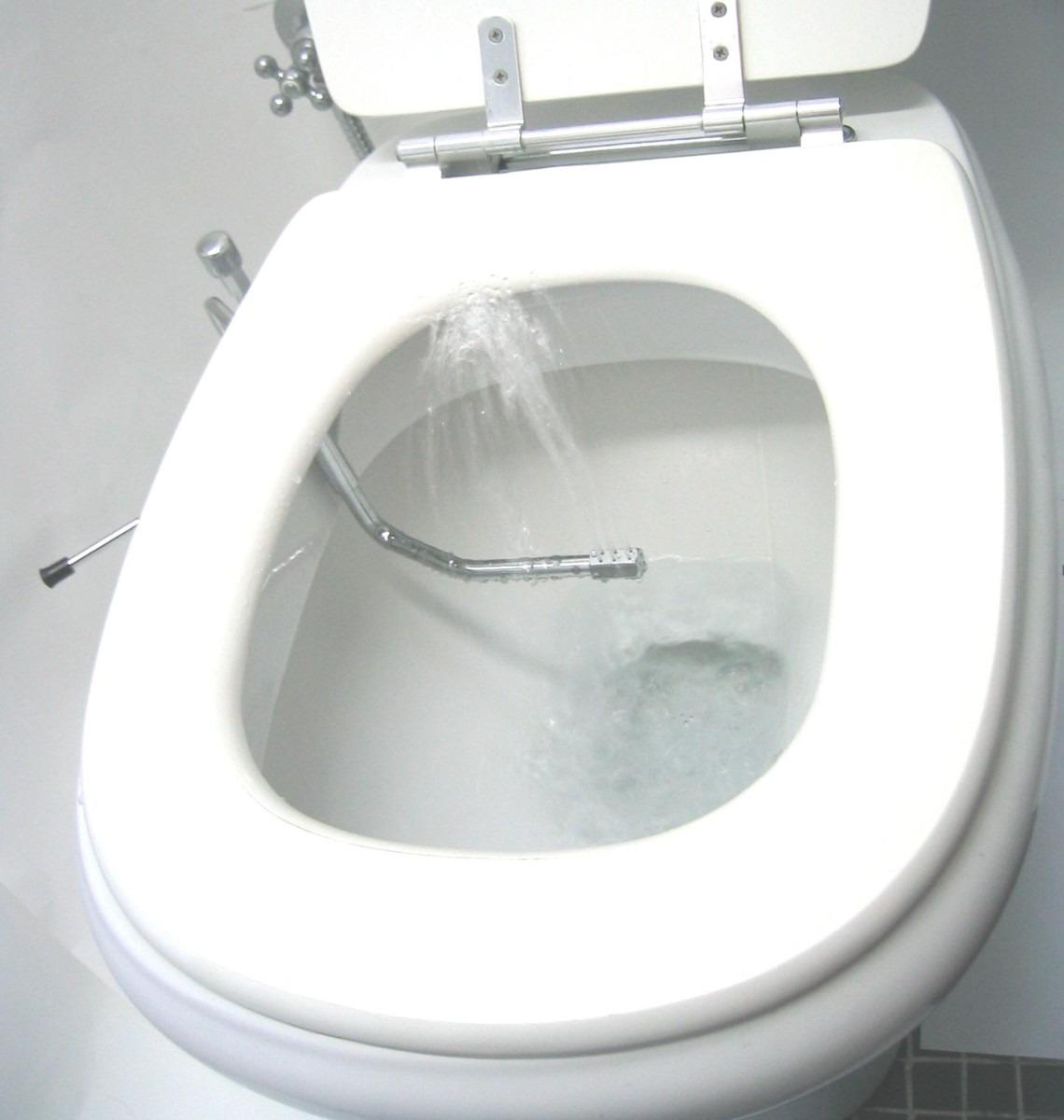 Ducha Acoplada Ao Vaso Sanitário R$ 295 00 em Mercado Livre #60646B 1140x1200 Banheiro Branco Com Vaso Sanitario Preto