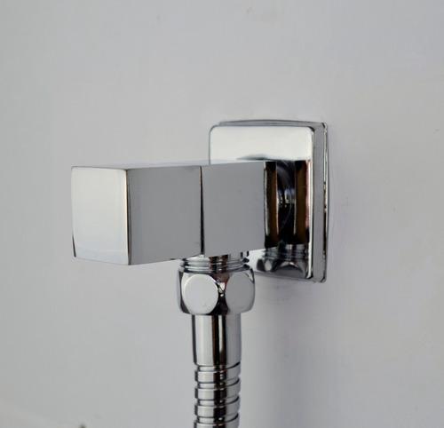 ducha higienica em abs quadrado com registro cromado 1,20