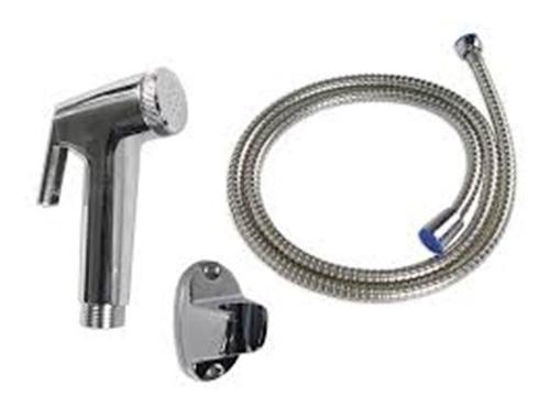 ducha higiênica completa com gatilho abs cromada flexivel