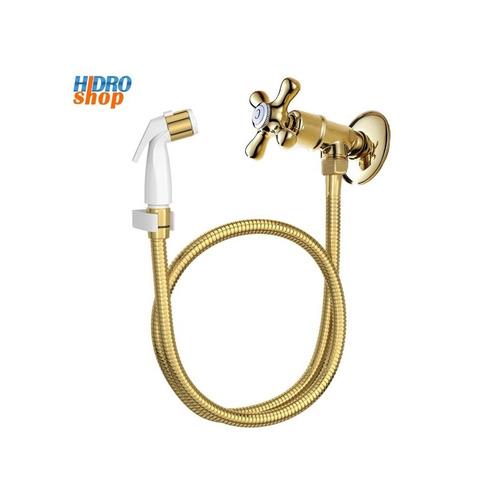 ducha higiênica dourada c/ registro s/ derivação + barato