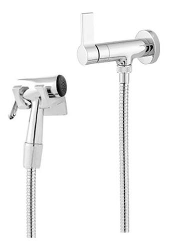 ducha higiênica luxo metal cromado acionamento 1/4 de volta