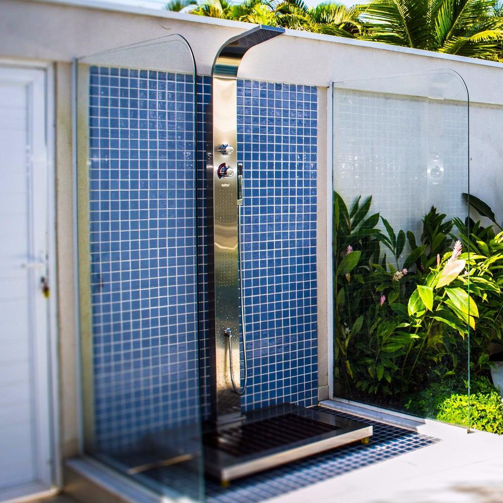 Ducha para piscinas e sauna advance sodramar em a o inox for Duchas para piscina