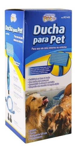 ducha pet para banho cães e gatos com reservatório shampoo