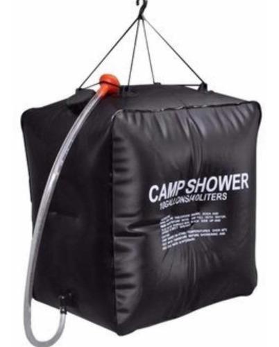 ducha plegable solar 40 litros portátil climatizada