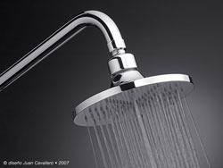 Ducha regadera articulada de lujo antisarro modelo for Regadera para ducha
