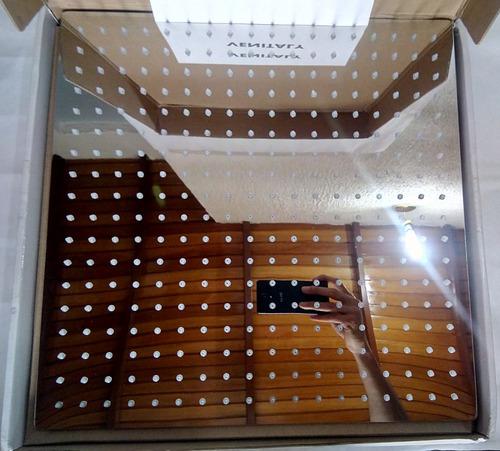 ducha regadera cuadrada baño 40x40 16 ultrafina lujo espejo