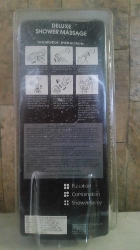 ducha regadera masajeadora deluxe (ducha, base, manguera)