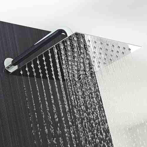 ducha regadera metálica cuadrada 20 cms-cromo incluye tubo