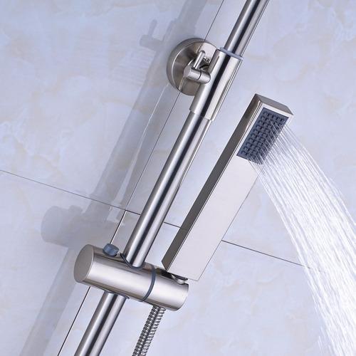 Ducha regadera mezcladora monomando niquel de pared 8 12dh for Mezcladora de ducha