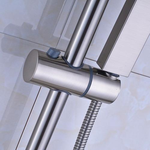 Ducha regadera mezcladora monomando niquel de pared 8 12dh for Griferia mezcladora para ducha