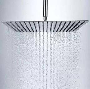 ducha regadera ultra delgada  8 pulg 20cm cuadrada