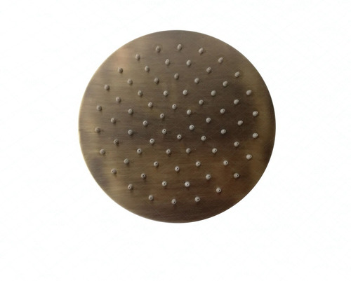 ducha slim 20cm acabado bronce con tubo