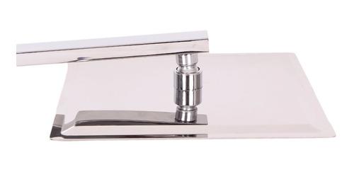 ducha slim luxo quadrado metal 20cm