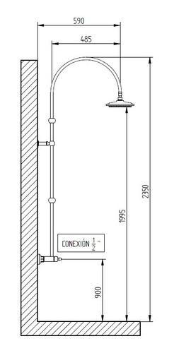 ducha s/tr bronx robinet exterior cobre brillante 6 cuotas