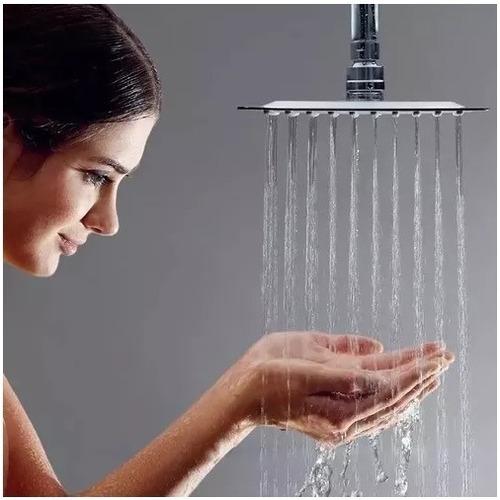 ducha  ultra slim 12  cuadrada+ brazo 40cm
