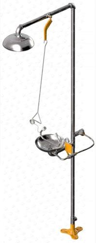 ducha y lavaojos combinadas seguridad industrial acero inox
