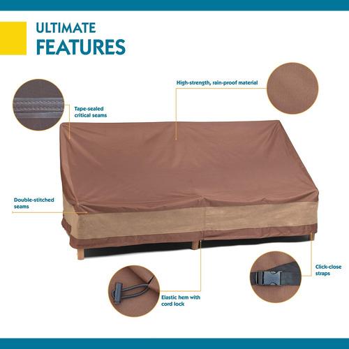 duck covers ultimate patio funda de sofá, 79 pulgadas
