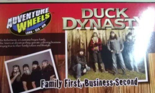 duck dynasty aventura ruedas conjunto con jase y carpa