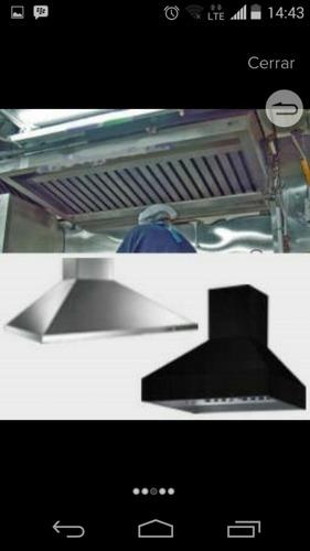 ducterias,  filtros y campana industrial