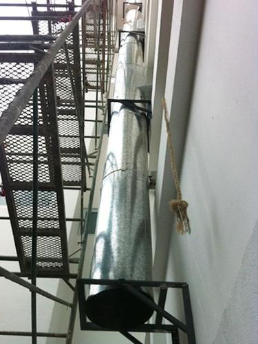 ductos cilindricos bajantes basura cabinas pintura canales