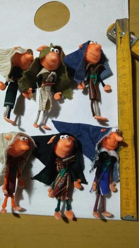 duendes articulados chiquitos 8cm ideal souvenir x 10u