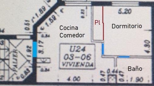 dueño vende dpto 1 dormitorio facultad medicina, uai rosario