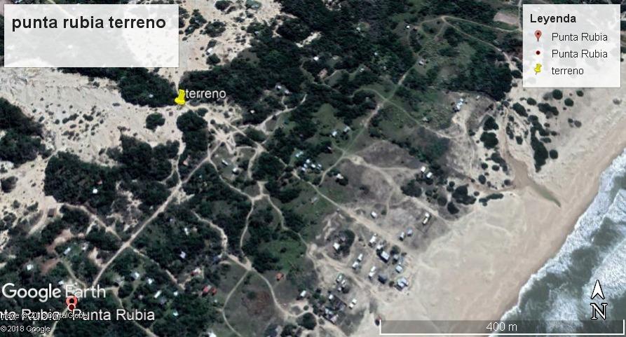 dueño vende terreno en punta rubia a 250 metros del oceano