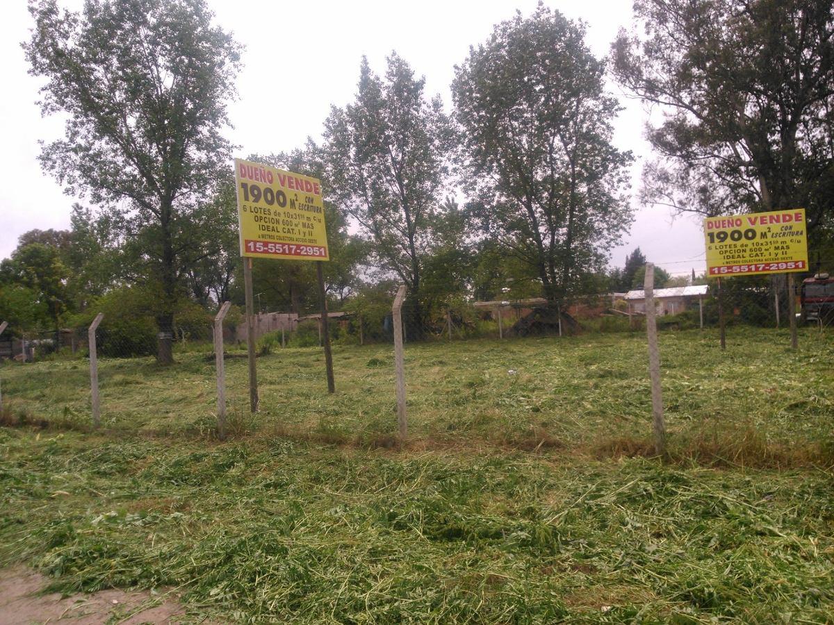 dueño vende  terrenos total 1890 m2 colectora acceso oeste