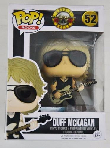duff mckagan - funko pop - guns n' roses - pronta entrega