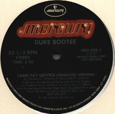 duke bootee    12 single   same day service