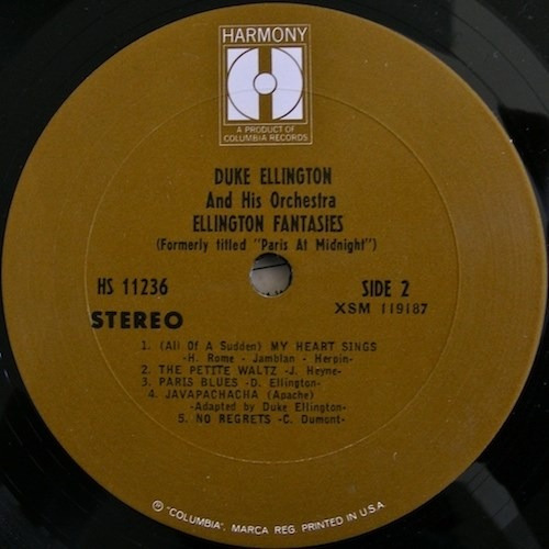 duke ellington - lp ellington fantasies (imp.)* stereo* jazz