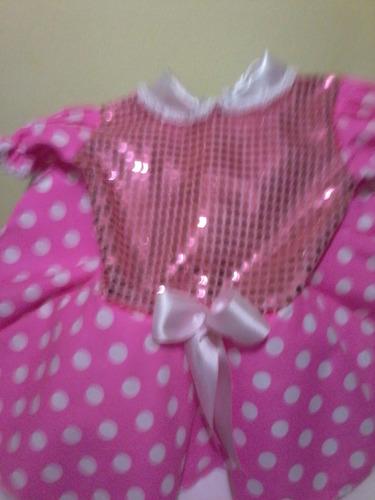 dulce minnie rosa,disfraz de ensueño