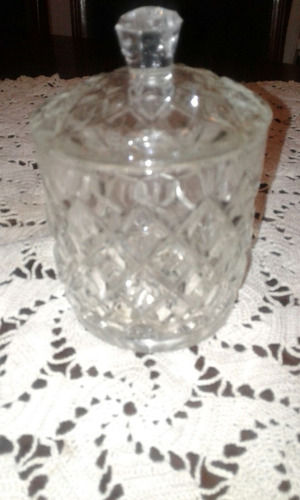 dulcera, azucarera, caramelera de vidrio tallado