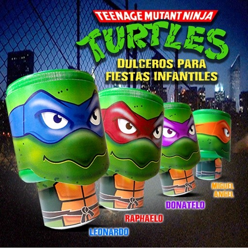 Dulcero Tortugas Ninja Fiestas Infantiles Centro Mesa ...