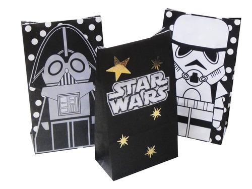 dulceros fiesta star wars bolsa recuerdo regalo storm vader