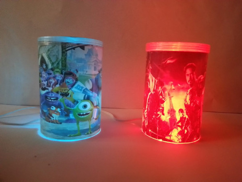 dulceros infantiles lámparas 10 piezas
