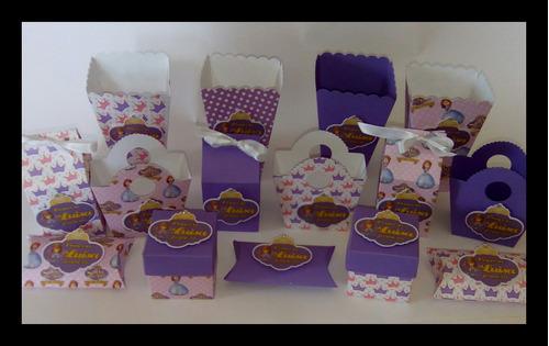 dulceros mesa de postres cajitas princesa sofía