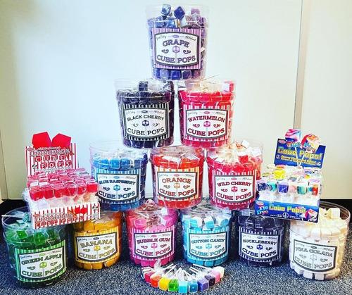 dulces, chupetas, colombinas cube pops x 12 unidades