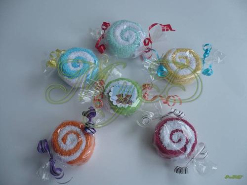 dulces de toallitas faciales 10 piezas recuerdo bautizo
