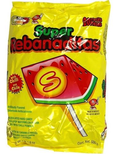 dulces mexicanos: rebanaditas paletas de sandia con chile