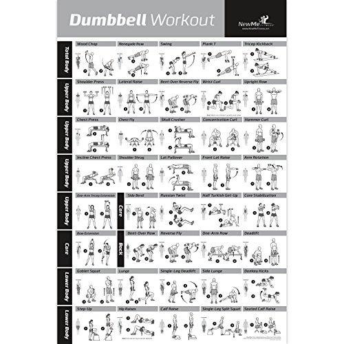 dumbbell ejercicio posterior laminado - tabla de entrenamie